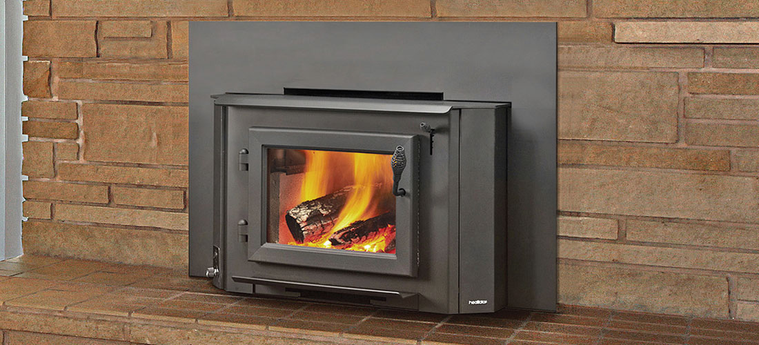 double sided wood heater